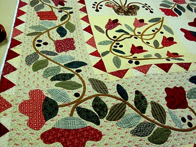 Country sunshine border design applique quilt quilts to never