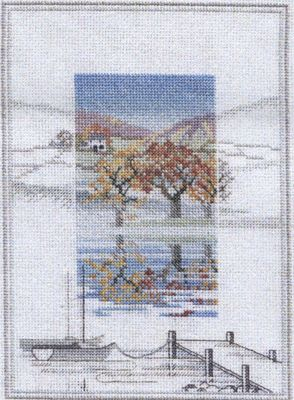 The Boat Landings - Misty Mornings Cross Stitch Kit from Derwentwater Designs