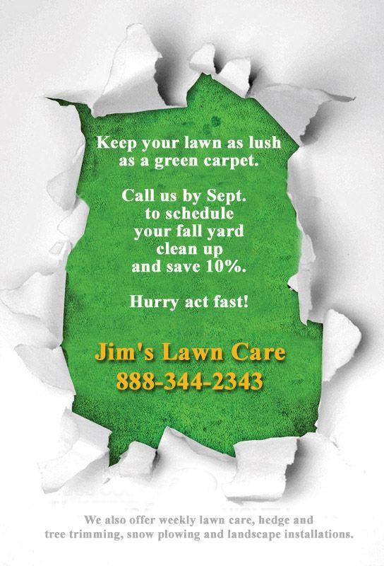 Flyer Ideas Jims Lawn Care Lawn Care Landscape Gardening