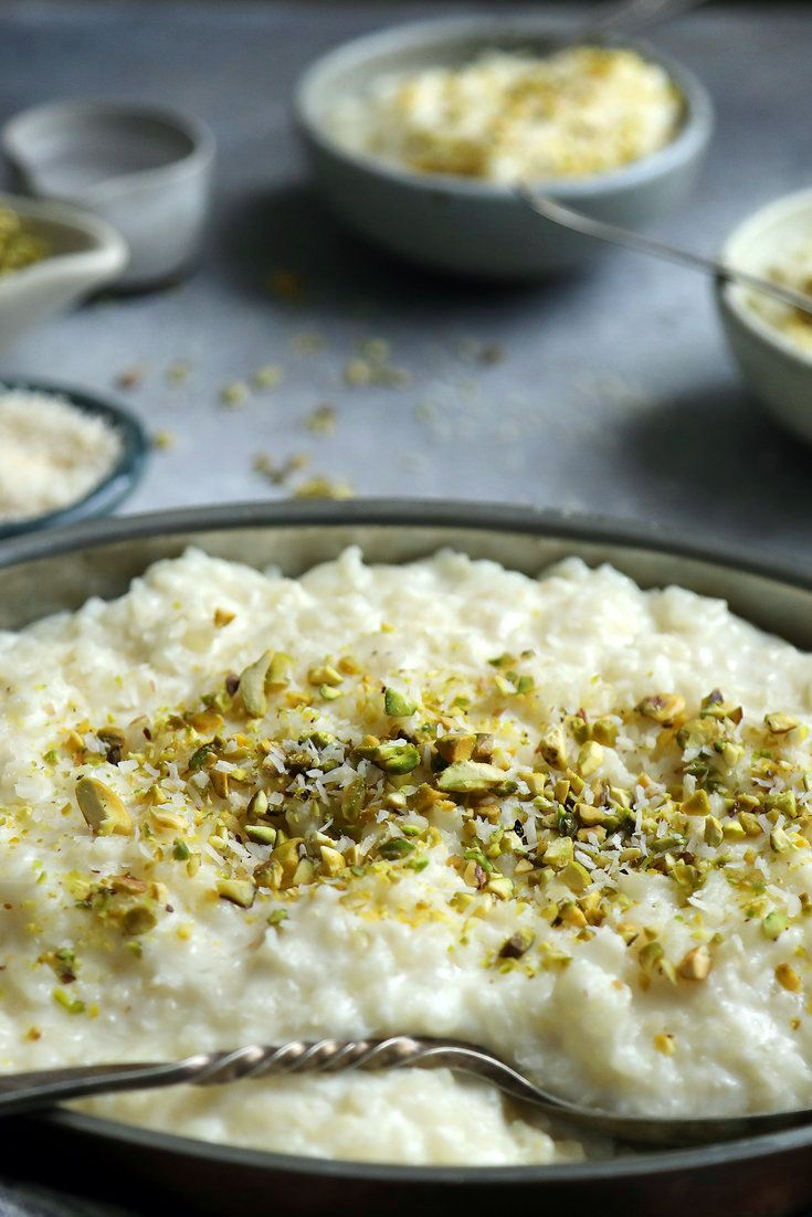 For me, a dinner party is a chance to try all those recipes that serve as bedside reading. For dessert, I dug around my cookbook collection and decided on a Moroccan rice pudding (or roz bil hleeb) from Paula Wolfert, made with almond milk and orange flower water. Moroccan Rice Pudding - NYT Cooking