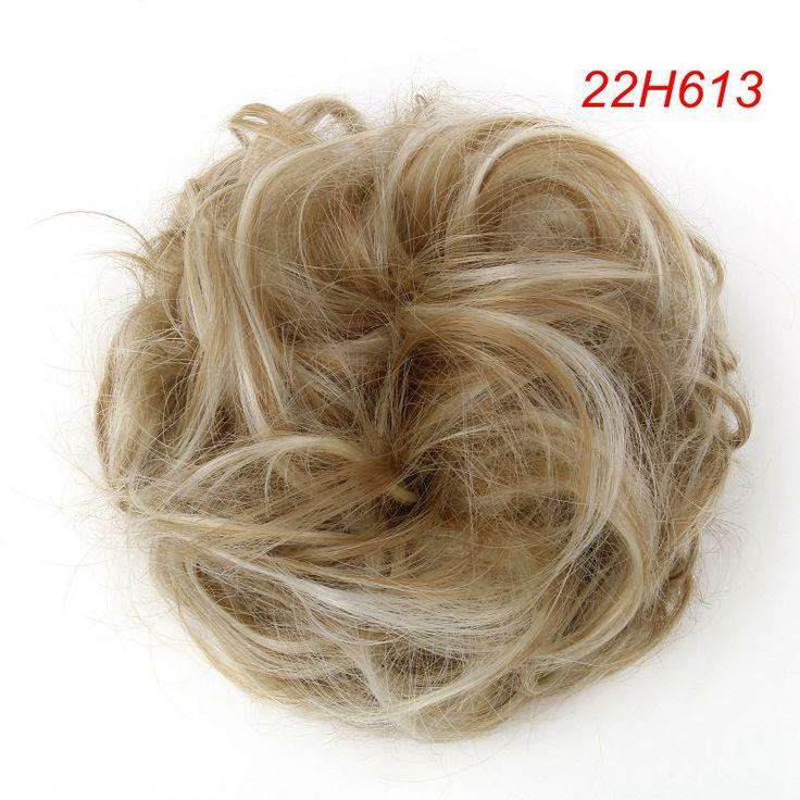 1PC Hair Chignon Elastic Hair Rope Curly Wavy Chignon Bun Hairpiece Natural 40cm 30g Synthetic Hair Bun Extension For Women Hair