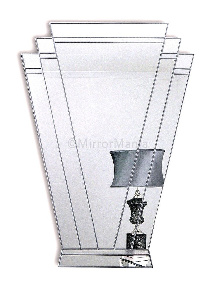 Paris Handcrafted Fan Mirror With 6 Sections Frosted Glass Textured Upper Border