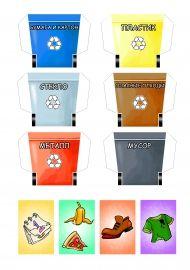 Мусорные баки для игрового лэпбука по экологии «Сортируем мусор»
