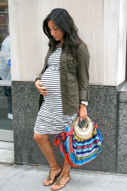 Maternity Style: Stripes Gently Used and Like New Pregnancy Style & Fashion for the Fall at Motherhood Closet Maternity Consignment