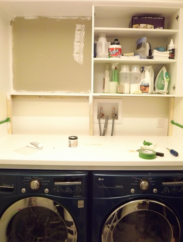 laundry room countertop cabinets home pinterest