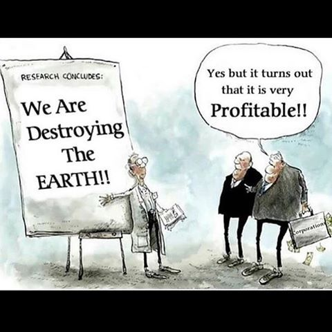 A planet to live on for our children and our children's children...or individual/company wealth???  Living and working for Sustainability of our world sounds like a great solution to me!!!