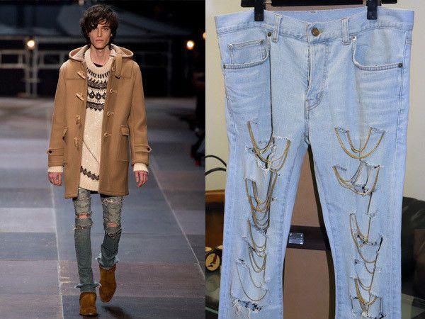 eb2ac132829 SAINT LAURENT PARIS Chain Crash Jeans Denim Pants Men's Authentic Italy  Made #fashion #clothing #shoes #accessories #mensclothing  #othermensclothing (ebay ...