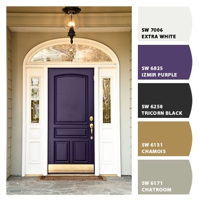 Chip it by sherwin williams izmir purple dream house paint pinterest front doors - Purple exterior paint image ...