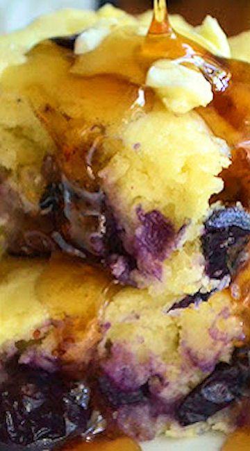 Buttermilk Blueberry Pancake Squares