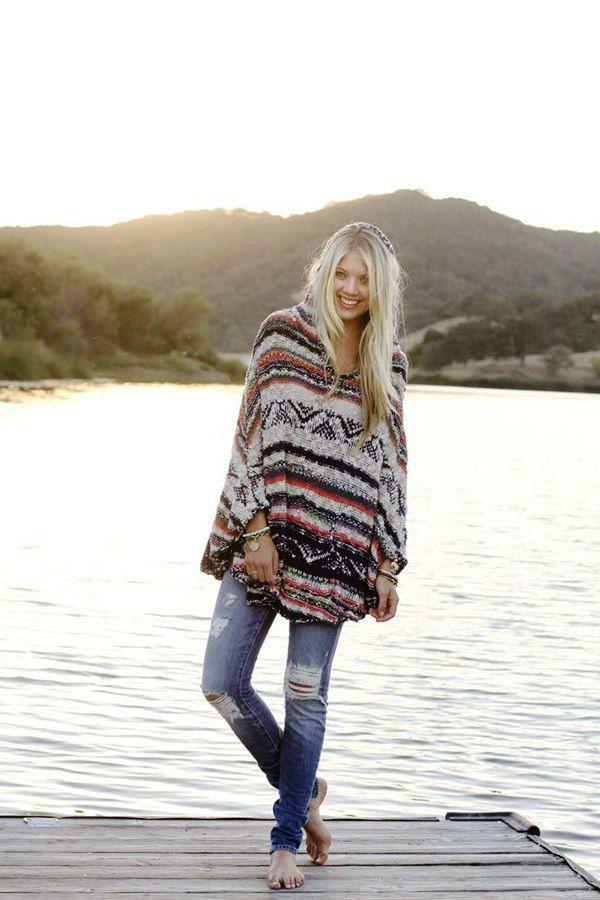 Winter Boho Style Women