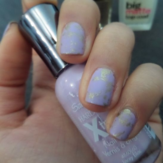 Matte Lilac and Gold