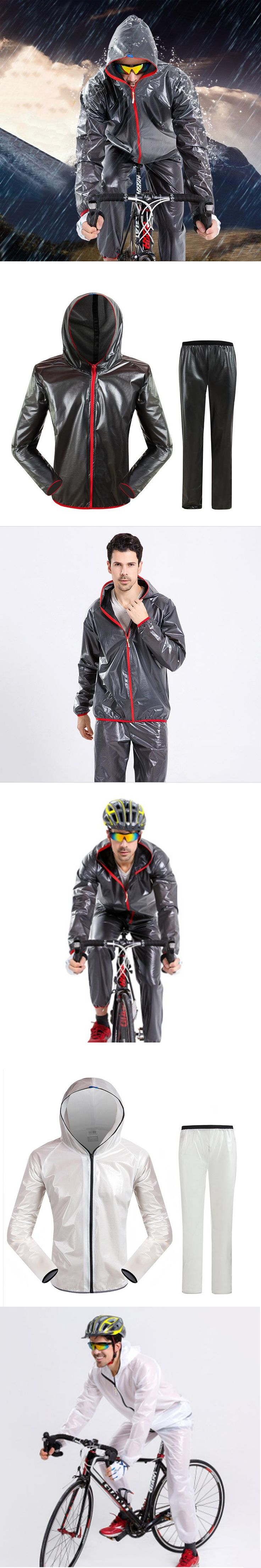 Outdoor Sports Cycling Raincoat Sets Bicycle Poncho Windcoat rain Jacket Windproof rain coat Waterproof  Rainwear Man and Woman