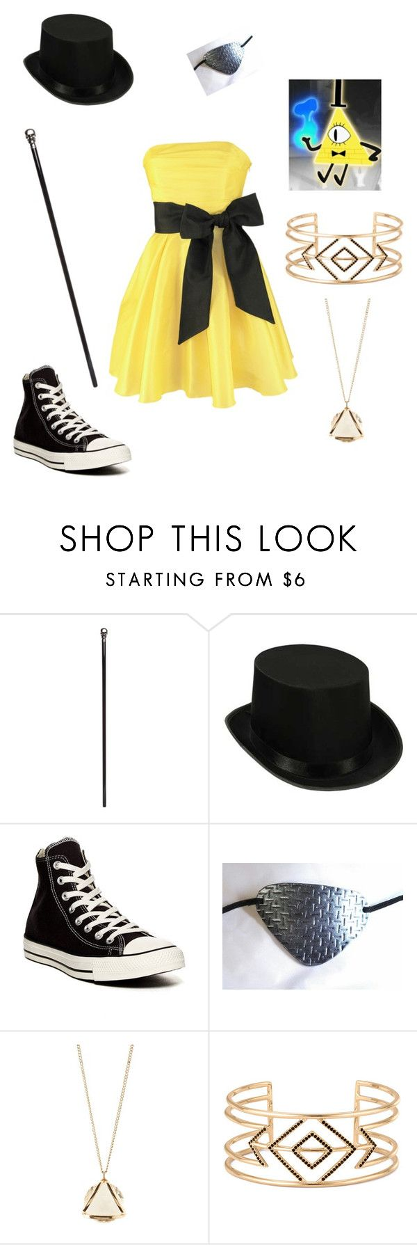"""""""Bill Cipher Cosplay"""" by crystalkingdom15 ❤ liked on Polyvore featuring Alexander McQueen, Converse, Charlotte Russe, Stella & Dot, women's clothing, women's fashion, women, female, woman and misses"""