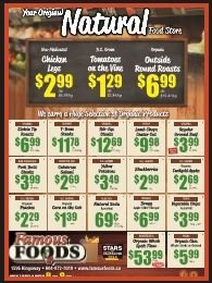 Look for our weekly flyer in the Vancouver Courier! Every Thursday, we announce special discounts that can save you money.  http://www.famousfoods.ca/specials/
