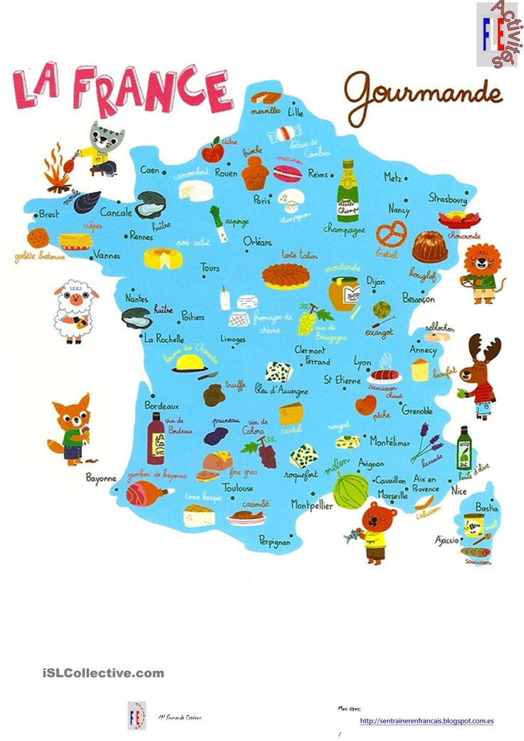 CARTE DE FRANCE GOURMANDE