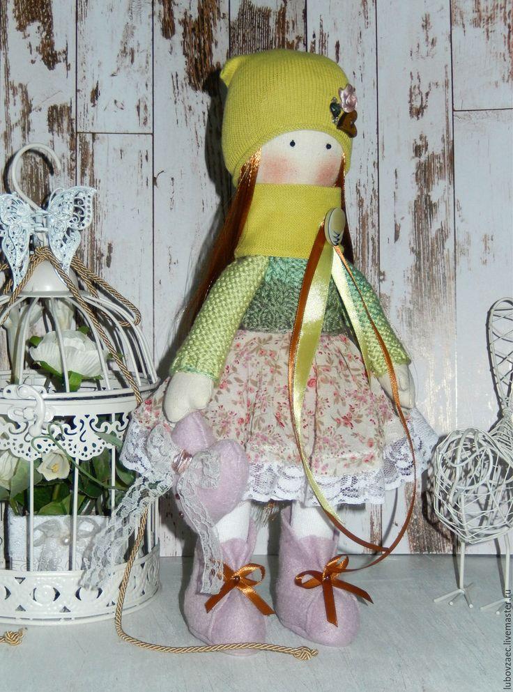 Купить Кукла текстильная весенняя зелень - салатовый, розовый, кукла ручной…