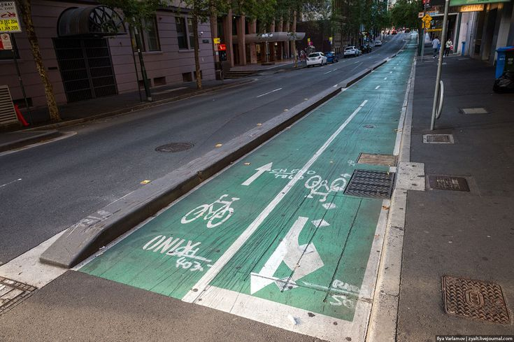 Левосторонняя велодорожка