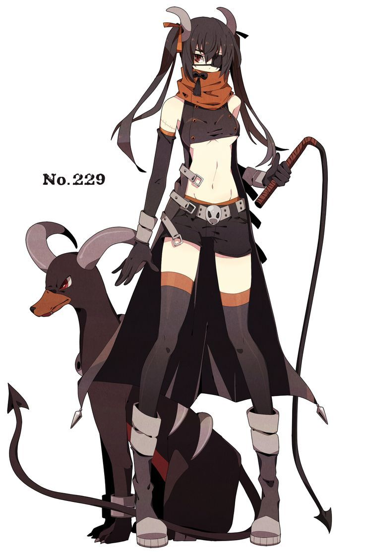 gijinka human version pokemon, houndoom: