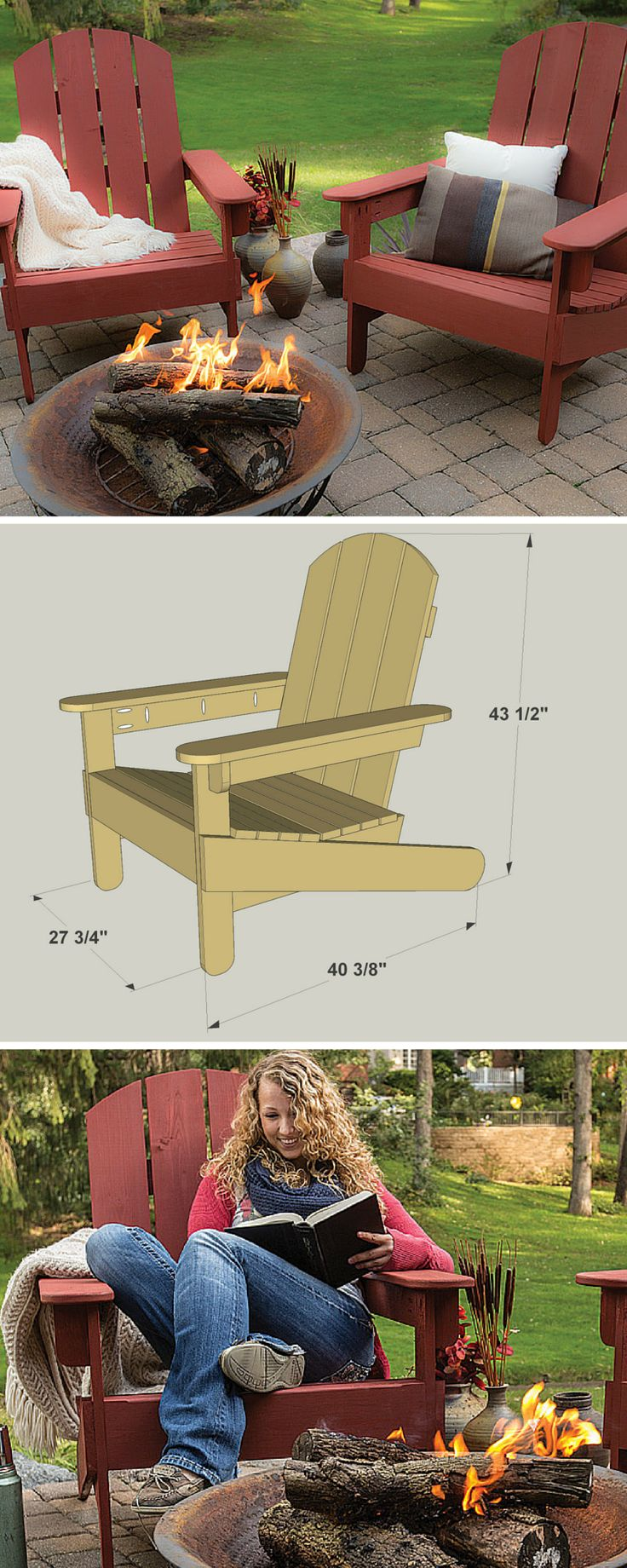 Just about everybody recognizes the classic lines of an Adirondack chair, and would like to have one or two somewhere in their outdoor living space. And why not? These chairs look great and are very comfortable. As you'll find out with this plan, an Adirondack chair is also easy to build. Get the free DIY plans at buildsomething.com
