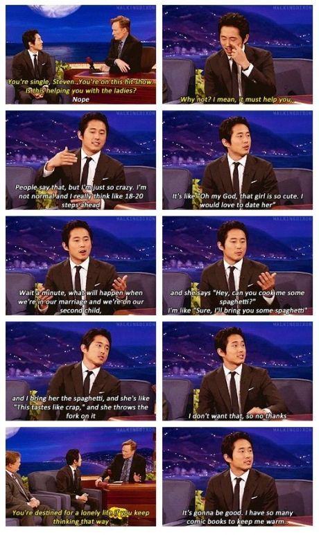 Steven Yeun on Conan.
