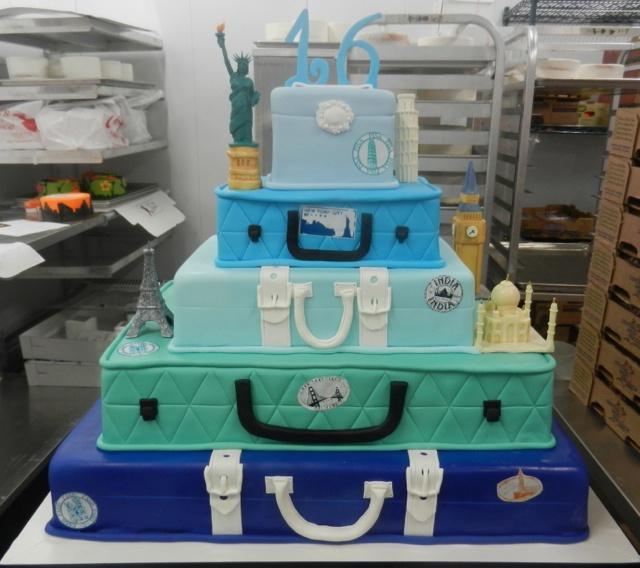 World Traveler Sweet 16 Cake