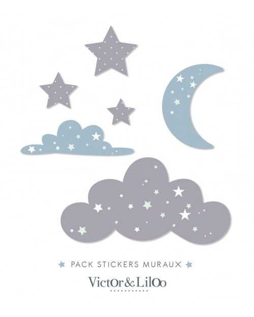 17 meilleures id es propos de stickers nuage sur. Black Bedroom Furniture Sets. Home Design Ideas