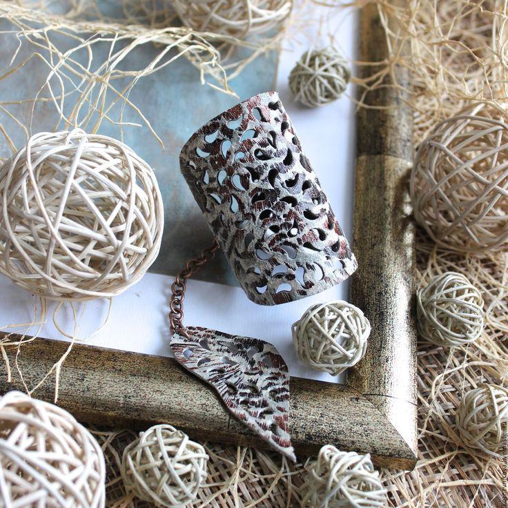 Купить Кожаный браслет Саванна III - коричневый, леопардовый принт, кожаный браслет, браслет кожаный