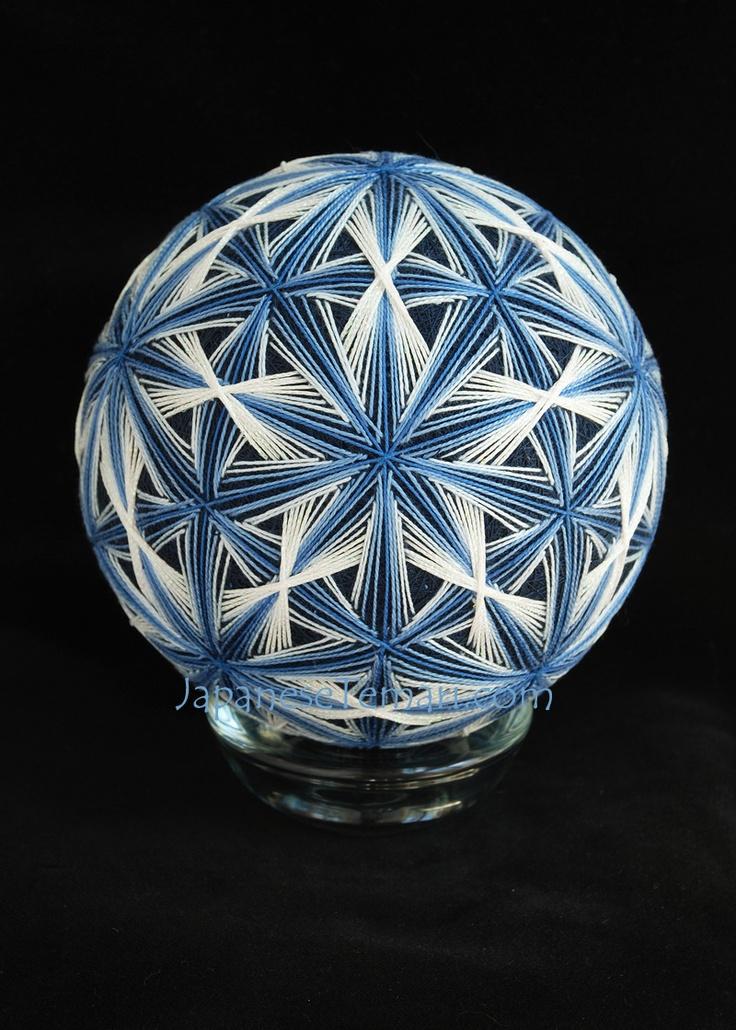 Star Swirls Temari by Barbara B. Suess