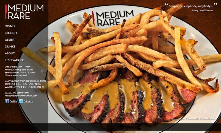 Medium Rare. Restaurant website design - Redmon Group #RedmonGroup