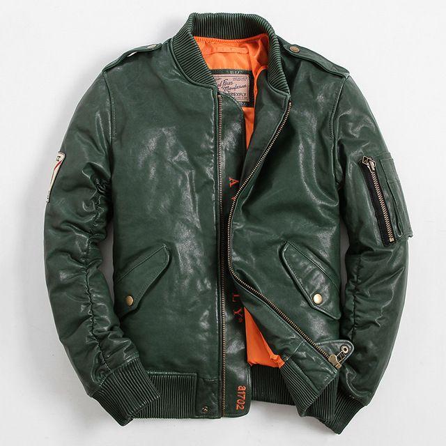 Men's Genuine Leather Down Coats Sheepskin Coat Sheepskin Jacket Fashion Short Section Casual Coat Mandarin Collar  GSJ378