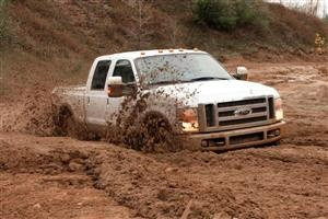 Something about a muddy truck