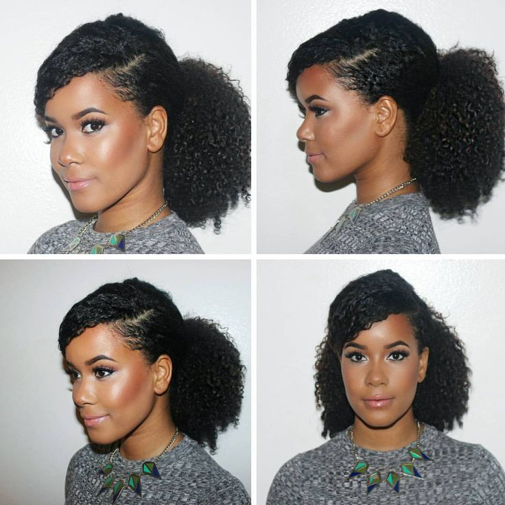 natural hair ponytail