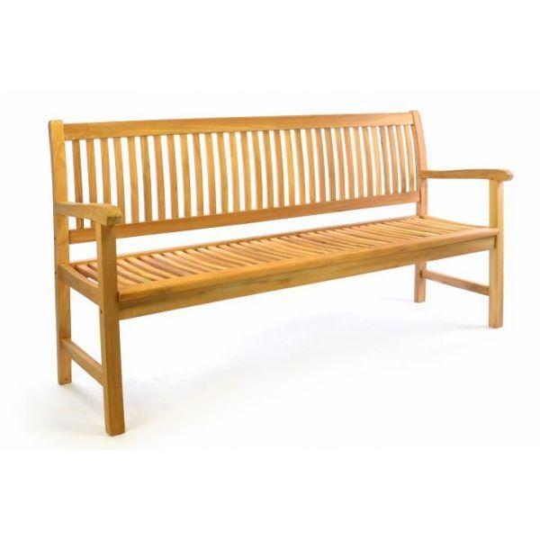 TEAK puutarhapenkki 180cm, 249,95€. Vakaa ja kestävä TEAK penkki sopii täydellisesti puutarhaan, terassille sekä parvekkeelle. Tämä 3-paikkainen penkki kutsuu sinut rentoutumaan yksin tai ystävien kanssa. Ilmainen toimitus! #puutarhapenkki #penkki #tuoli