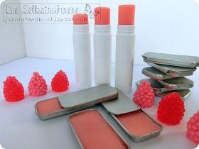 Lippenpflegestift, Labello, Labello selbst machen, Lippenpflege selber machen, Erdbeeraroma, Erbdeer Labello, Lipbalm, lip care, lippenstift, kaufmanns creme