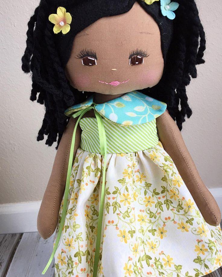 Oh, you bright-eyed beautiful girl! #theariacollection #restockwednesday #spuncandydolls #africanamericandolls #blackdolls