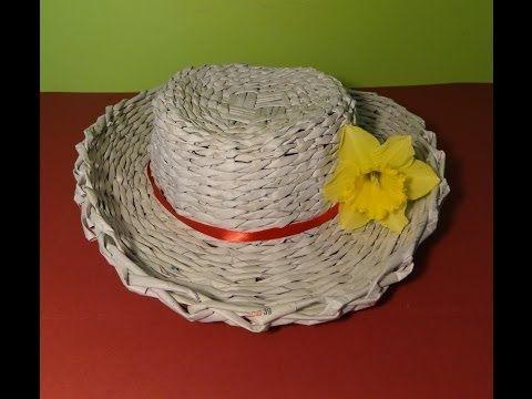 Papierowa wiklina - jak zrobić kapelusz - YouTube