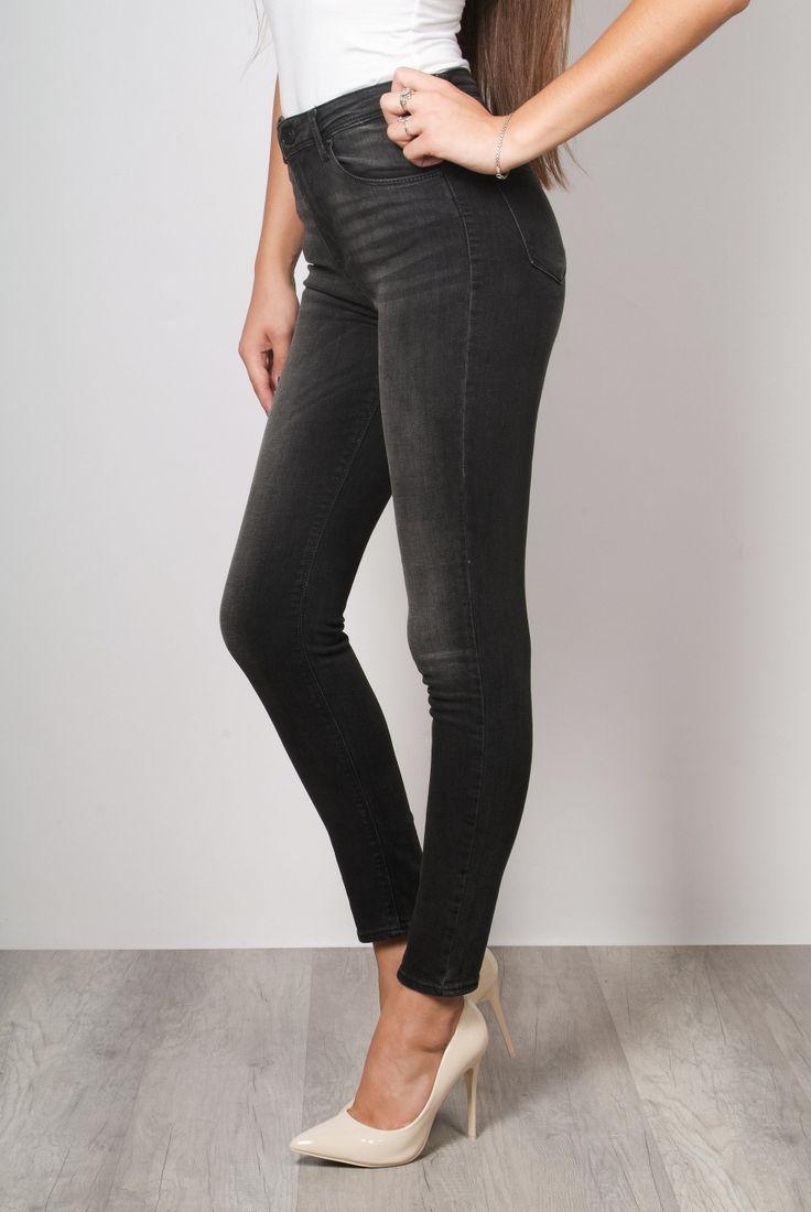 Replus - серые джинсы скинни, высокая посадка - RPLS KB 22 ANTR HW