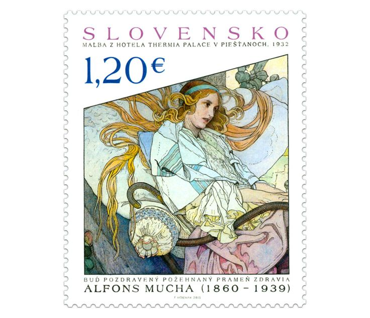 COLLECTORZPEDIA Art: Alfons Mucha  Painting from hotel Thermia Palace in Piestany