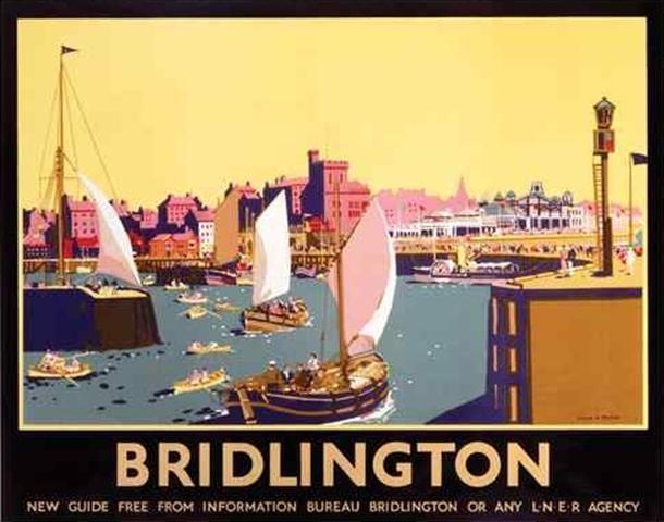 Bridlington, Yorkshire. LNER Vintage Travel Poster by Frank Mason