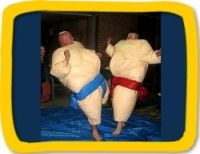Mainland jumping castle hire. Sumo suits, price unknown