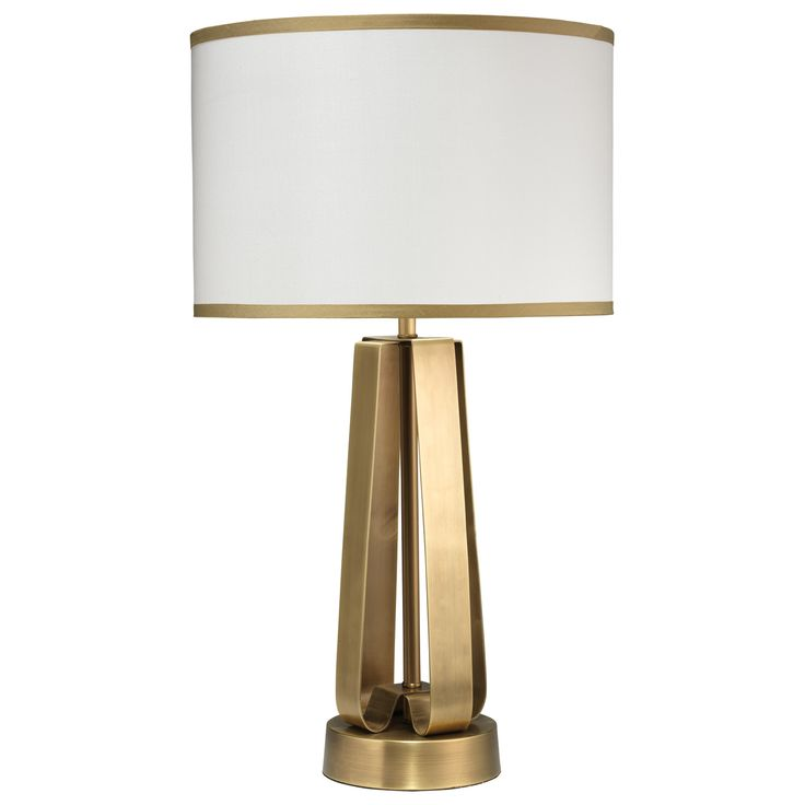 Jamie young strap antique brass table lamp