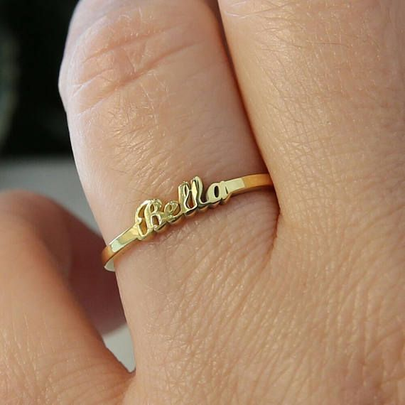 Gold Name Ring,Personalized Name Ring,Custom Name Jewelry  Custom Gold Name Ring will be handmade with the name you want. I hope this elegant but stylish name ring is also a great personalized Birthday Gift and Bridesmaid Gift   Materials Sterling Silver ,Rose Gold Filled Over Silver, Yellow Gold Filled Over Silver  How To Order   Please select your preffered material from the menu while adding to card. Please write your preffered name as a note during check out.    DELIVERY This item will…