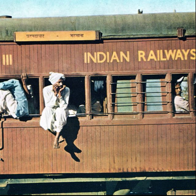 I love traveling by train in India.
