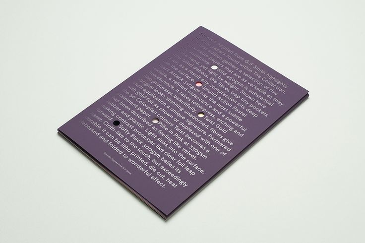 Print with die cut detail designed by Studio Makgill.