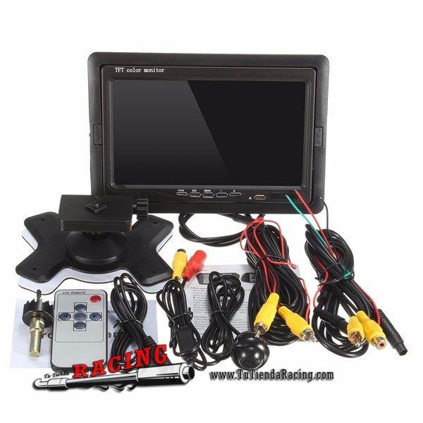 58,78€ - ENVÍO SIEMPRE GRATUITO - Monitor LCD de 7 Pulgadas + Cámara CCM con Visión Nocturna y Mando a Distancia - TUTIENDARACING