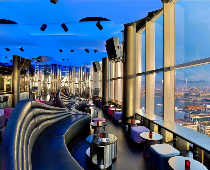 The ultra-exclusive Eclipse bar in Barcelona sits on the 26th floor of the W Hotel. Follow RUSHWORLD on Pinterest! Always something you'll love! Enjoy RUSHWORLD boards, HAUTE HOTELS BARS AND RESTAURANTS, EYE CANDY ARCHITECTURAL MASTERPIECES and LULU'S FUNHOUSE. #FancyRestaurant
