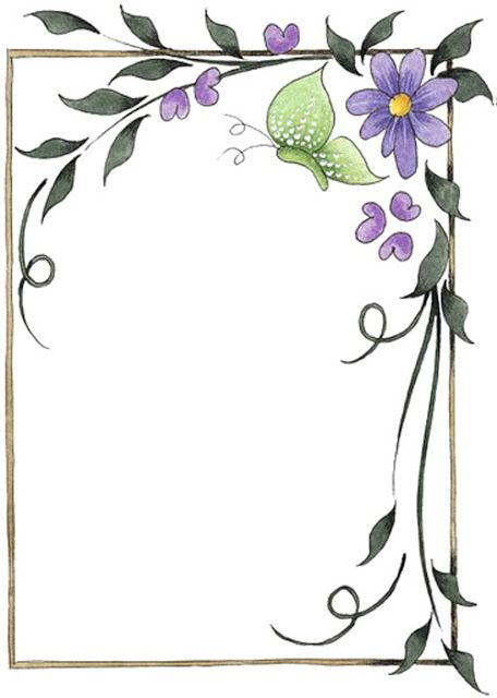 Bordes Decorativos: Bordes decorativos de flores para imprimir v