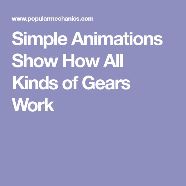 Simple Animations Show How All Kinds of Gears Work