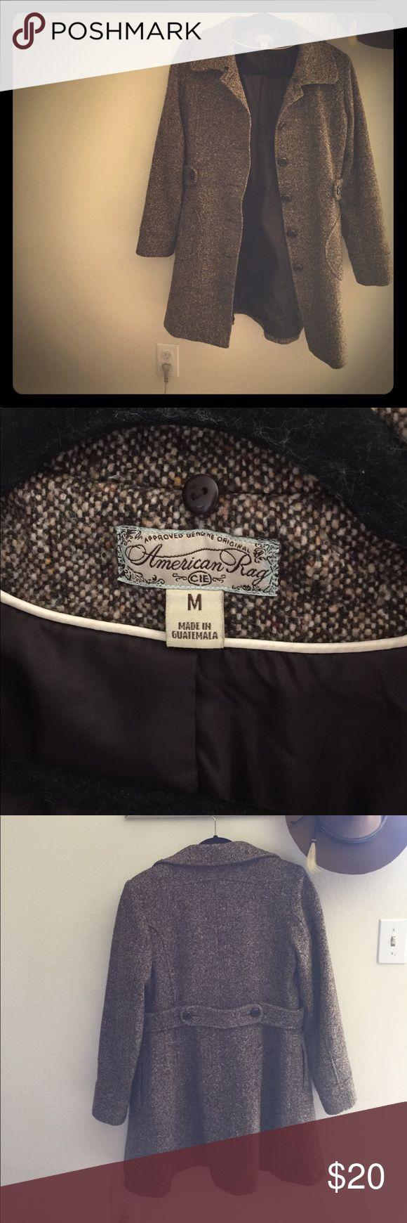 American Rag tweed coat American Rag tweed winter coat size M! Good condition. Just too big for me now. American Rag Jackets & Coats Pea Coats
