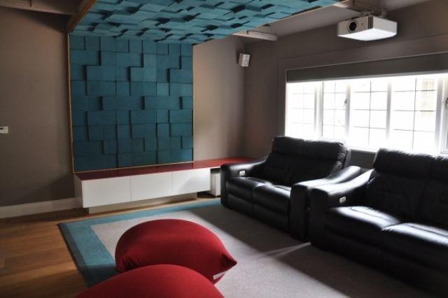 3d Dekor mit Akustik-Paneele für Heimkino-schallschluckend Geometrisches Design